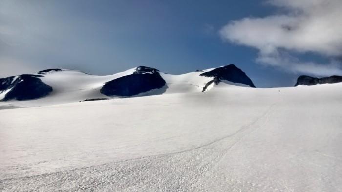 Styggebreen, Galdhøpiggen og Veslepiggen