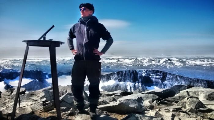 Den kjekke eventyrer på Norges topp