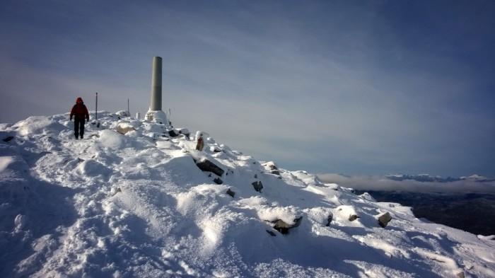 På vei ned Snøhetta