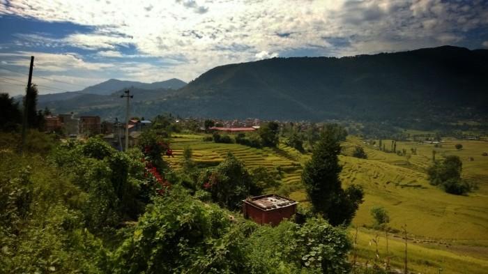 Landsbygden utenfor Kathmandu