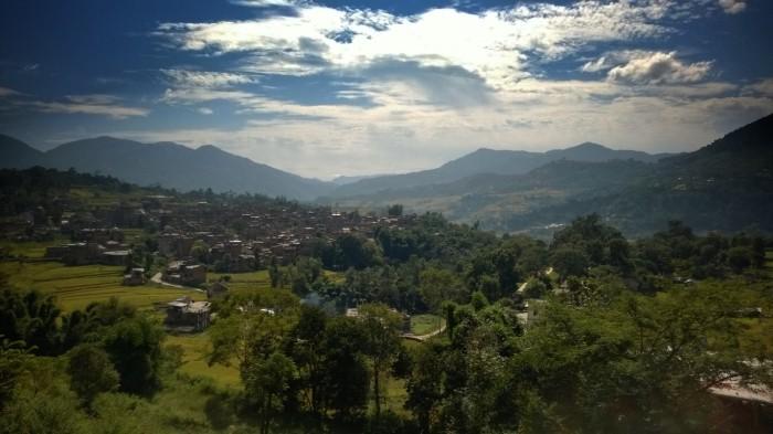 Landsbygda utenfor Kathmandu