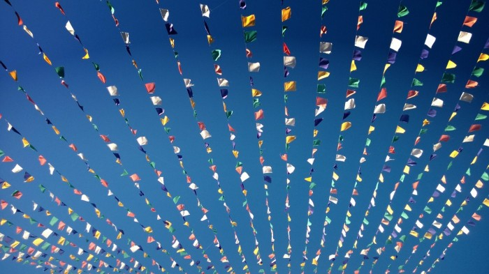 Bønneflagg - fremme i Lhasa