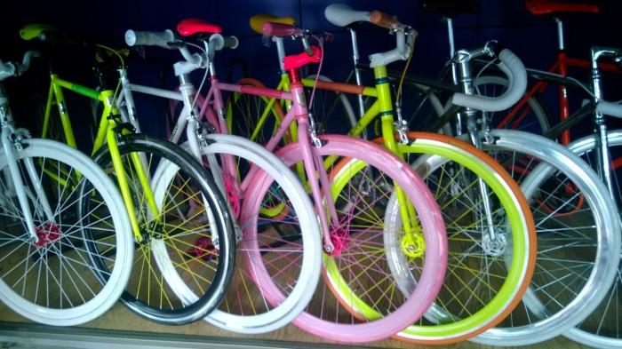 Fra sykkelbutikken - det ble ikke den rosa