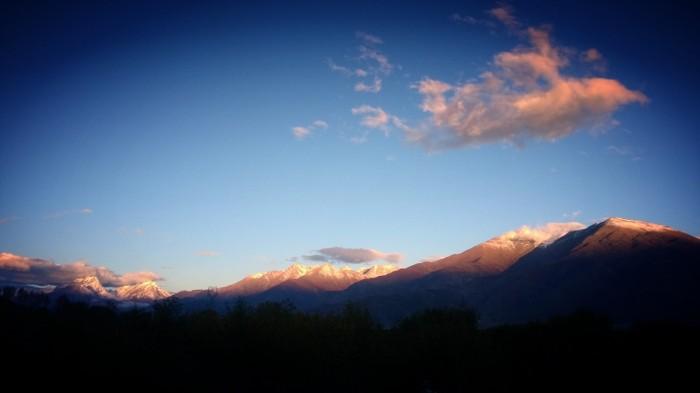 Morgensutsikt fra campingen