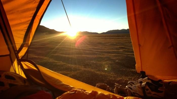 Godmorge utsikt fra en iglo