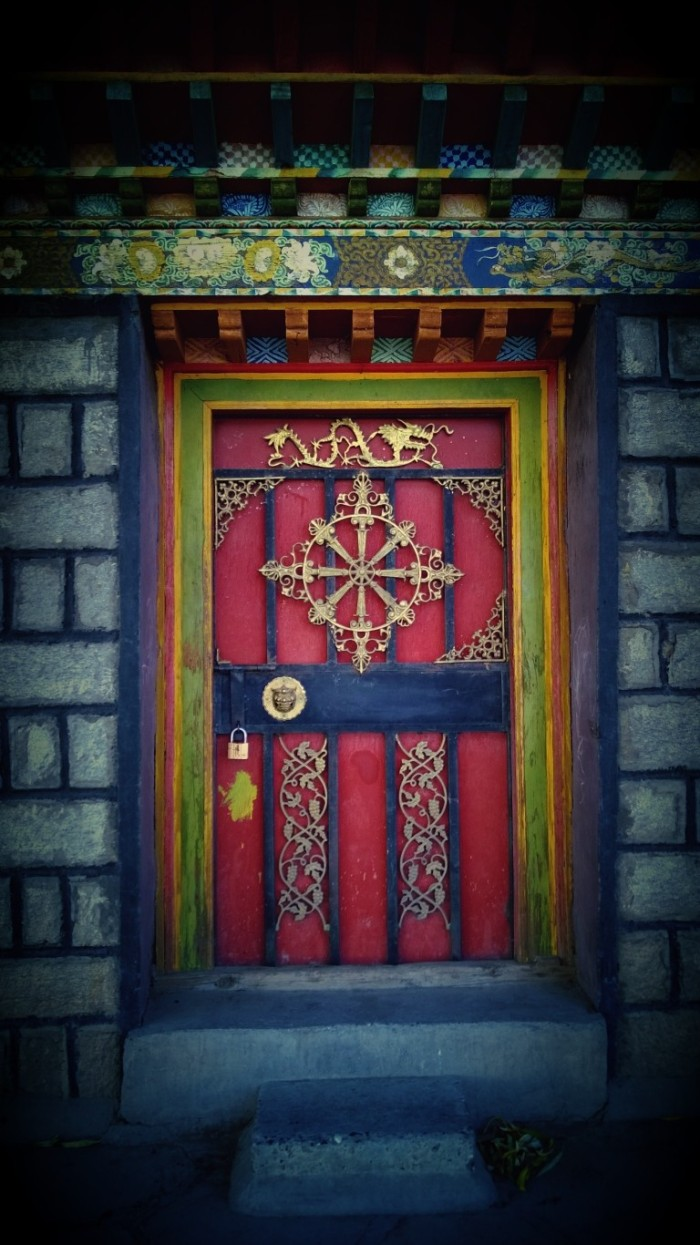 Door on a random house in a random village
