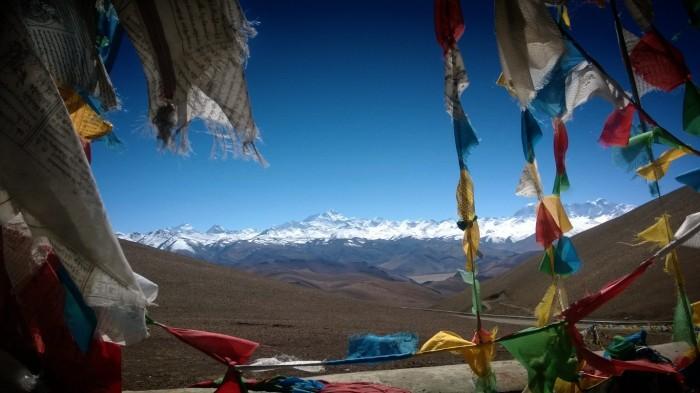 Pang-La pass og Himalaya massivet, Makalu, Lhotse, Mt Everest