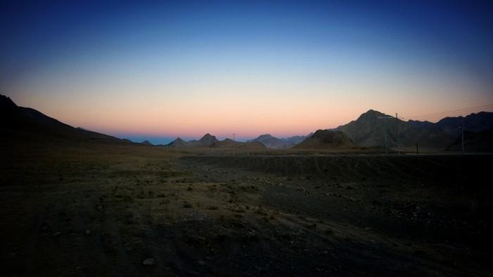 Soloppgang i ørkenen