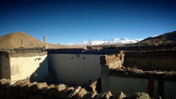 Panorama utsikt fra hustaken i den lille landsby vi besøkte