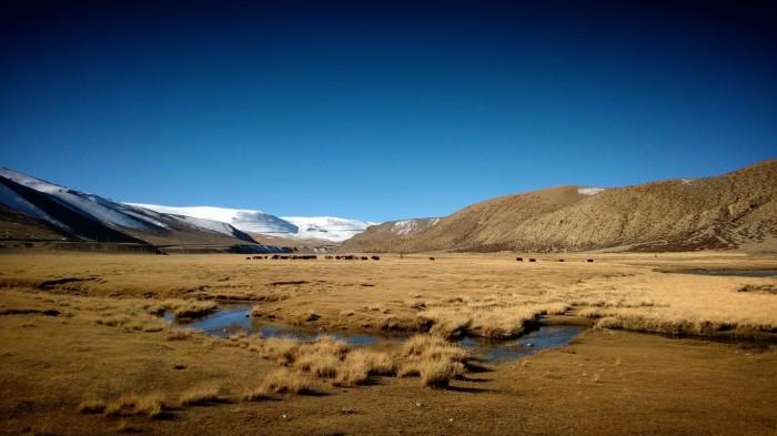 Ved foten av Lalung-La pass