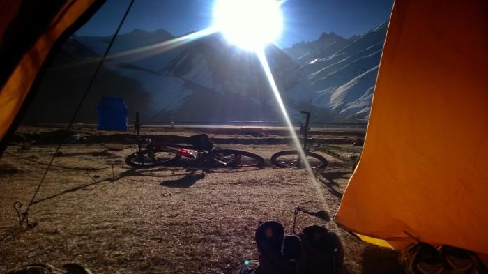 Utsikt fra teltet