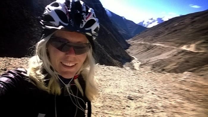 Glad syklist