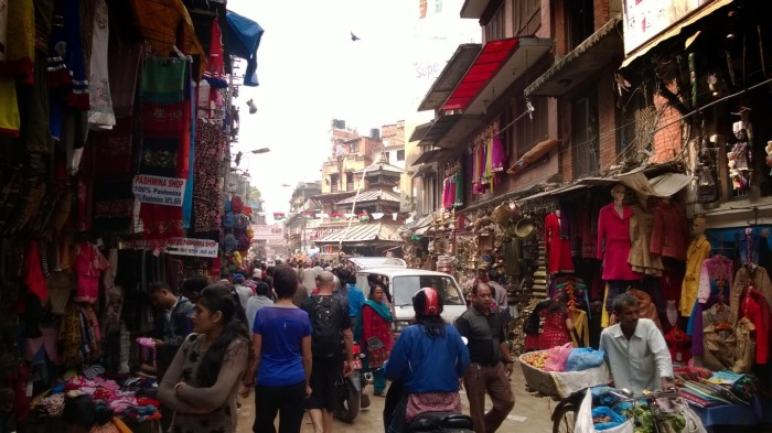 Gatelangs i Kathmandu