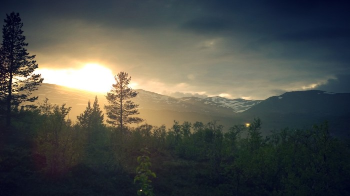 Med solnedgang i ryggen