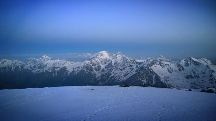 Solnedgang over Kaukasus