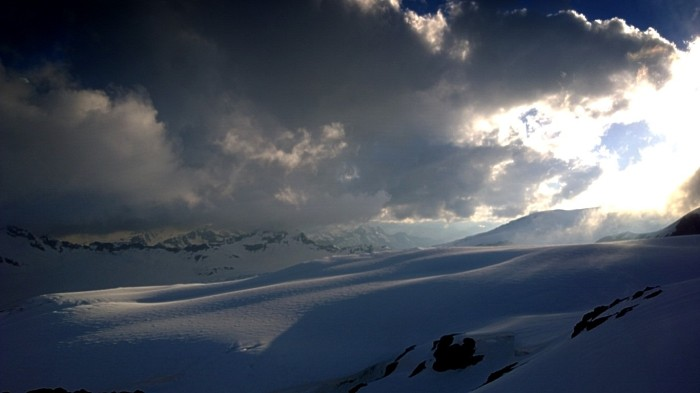 Solen går ned over Kaukasus