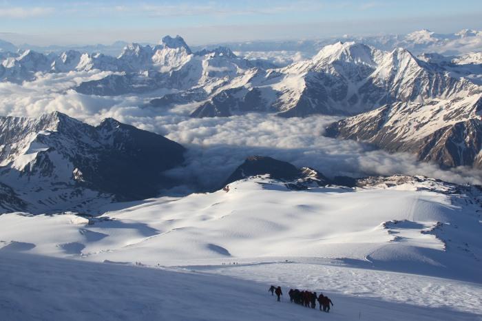 Langt der nede er vi. Ca 5000 m.o.h.