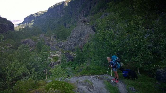 På vei ned den ville Aurlandsdalen