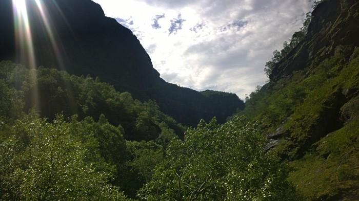 Utsikt over Aurlandsdalen