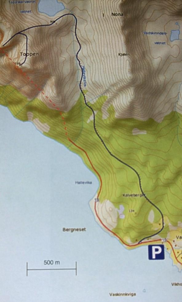Kart over stien som ikke helt var der