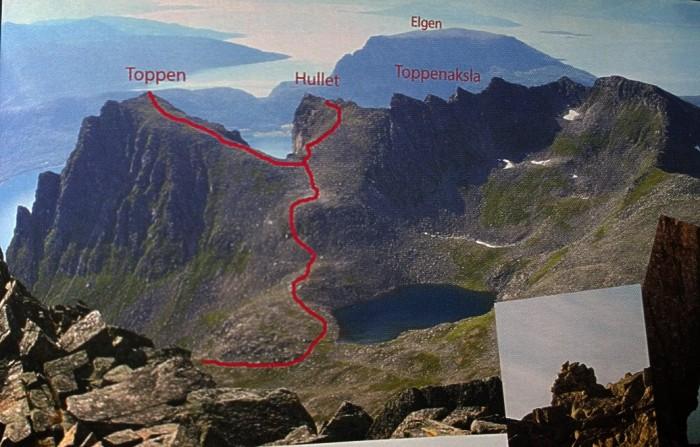 Oversiktsbilde over fjella