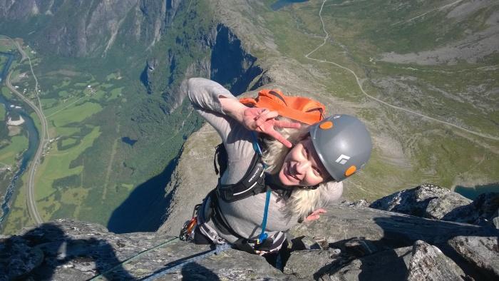 Snart på toppen! (bilde fra Erik)