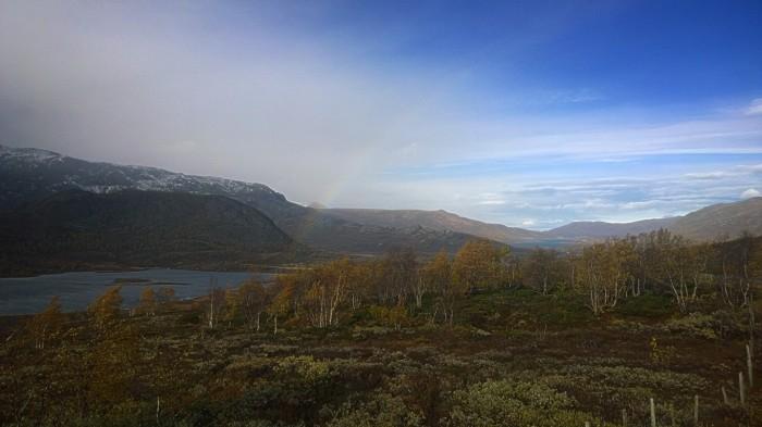 Regnbue på vei til Semelhøe