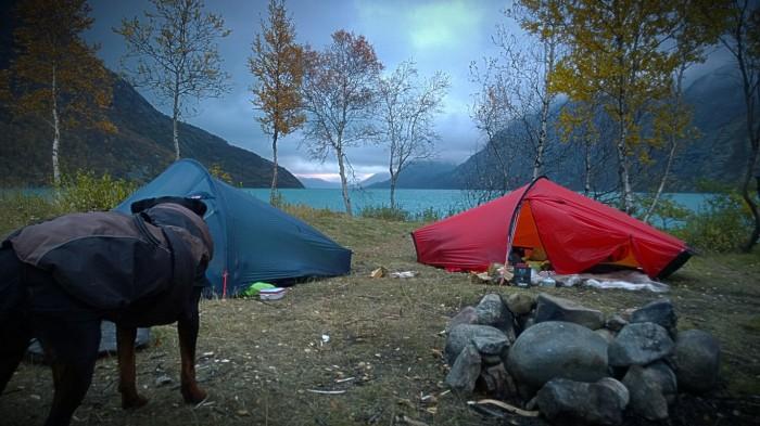 Campen vår i tungt vær