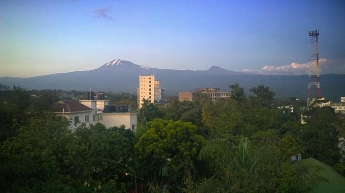 Utsikt over Kibo og Mawenzi, Kilimanjaro
