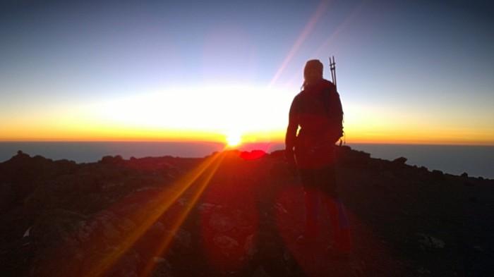 Fra Shira Peak og soloppgang