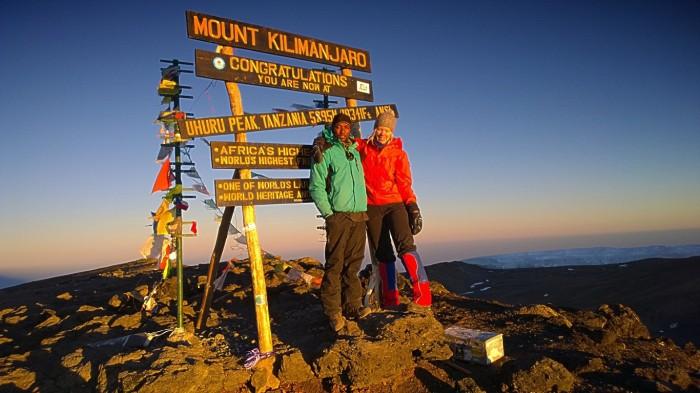 Deo og meg ved Uhuru  peak