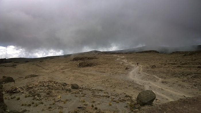 På vei ned fra Barafu camp