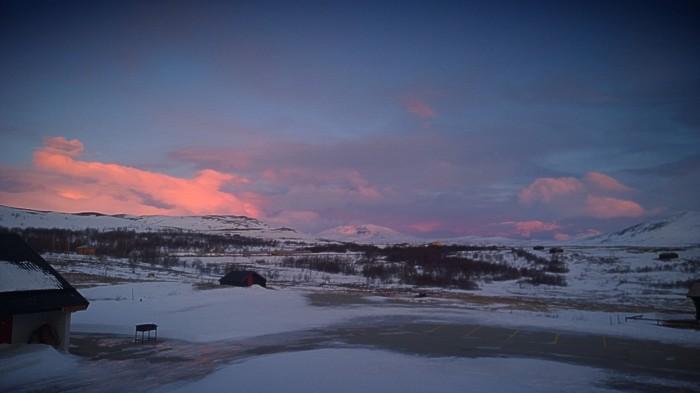 Utsikt mot Snøhetta fra Hjerkinnhus