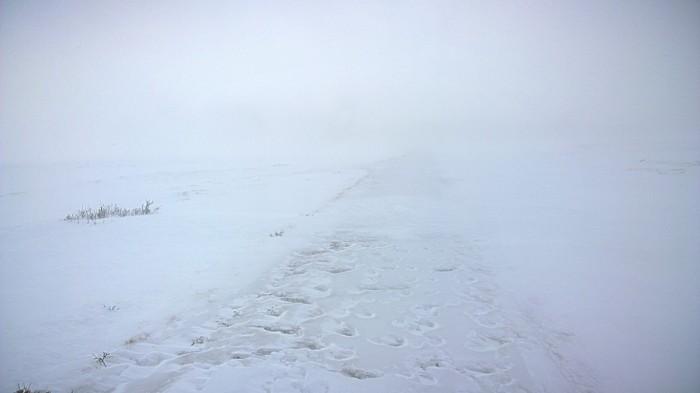 12 km igjen til Dovre og veien forsvinner