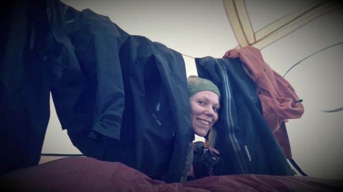 Har fått sovealkove i teltet