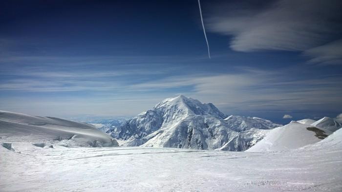 Fantastisk utsikt over Mt Foraker