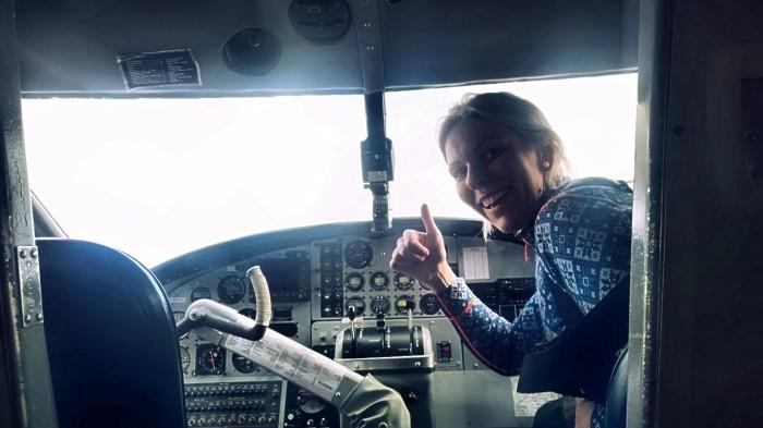 Og jeg fikk andre pilot stolen