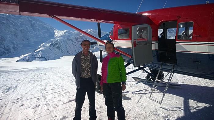 Tonje og vår pilot