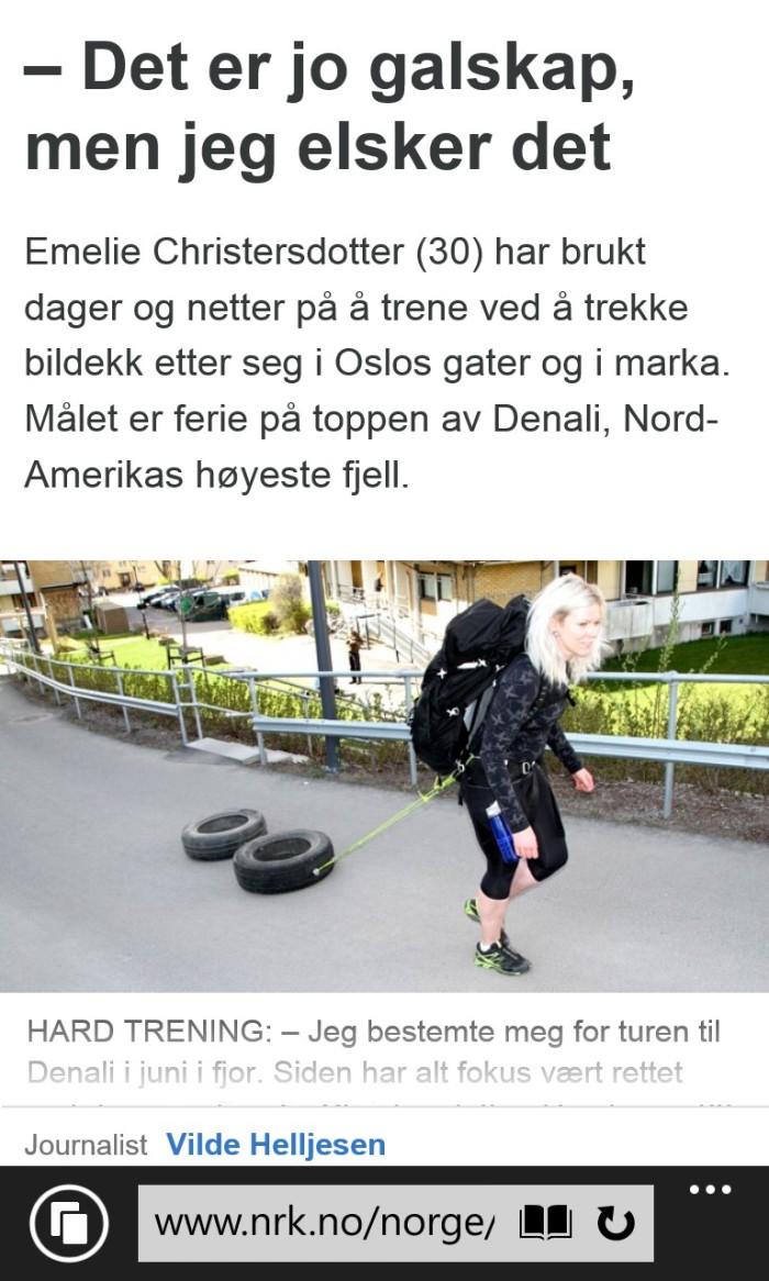 Fra en artikkel i nrk.no