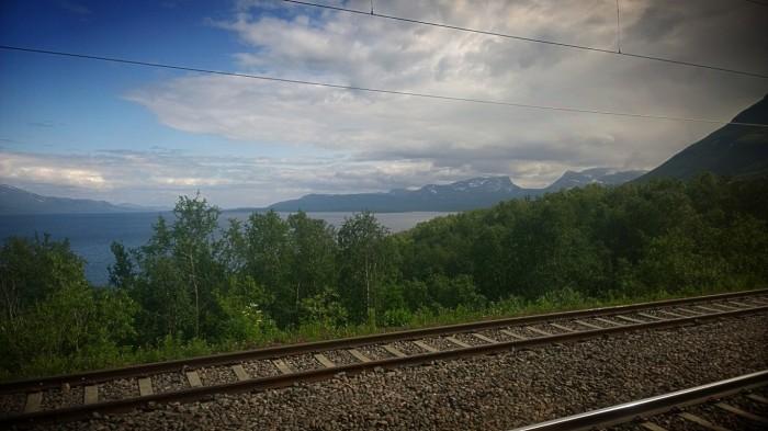 Porten sett fra toget