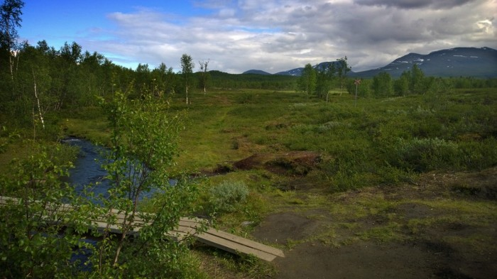 Landskapet åpner seg