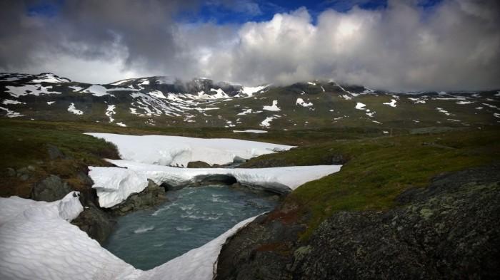 Mye snø i fjellet
