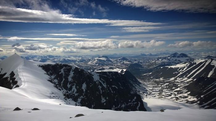 Utsikt mot Norge og havet